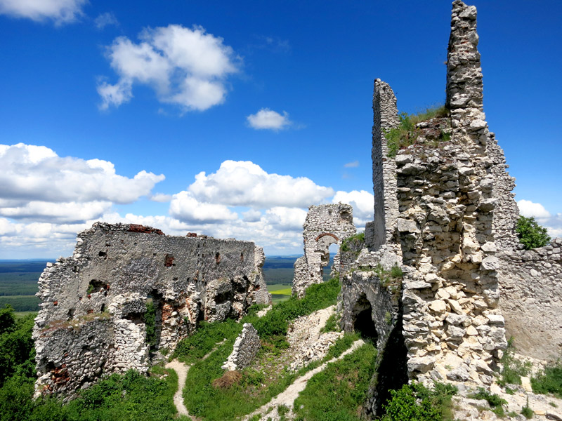 The dramatic ruins of Plavecký Castle - Photo by Hideaway Report editor
