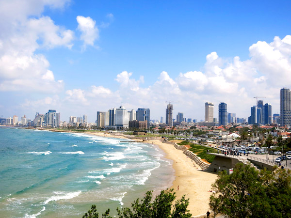 View of Tel Aviv beach from Old Jaffa