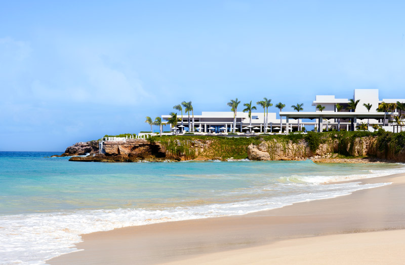 Viceroy Anguilla and adjacent beach