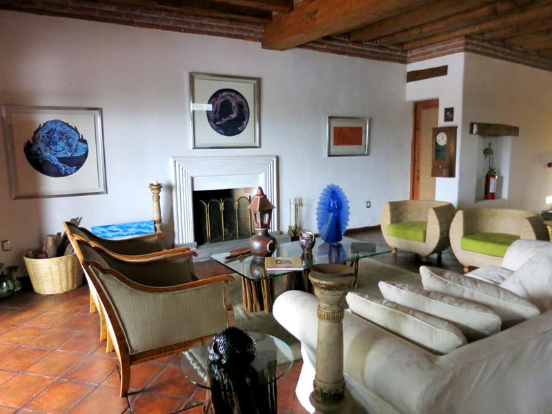 The main lounge at Hacienda Ucazanaztacua