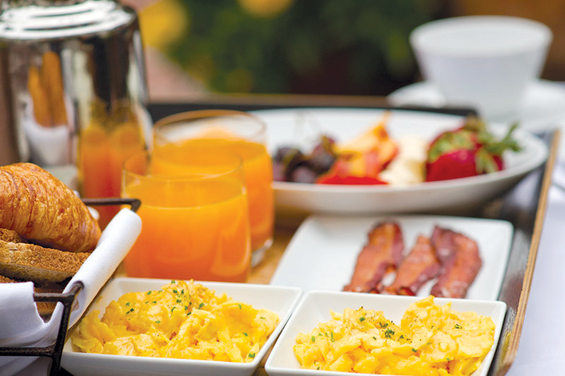 Complimentary breakfast at L'Auberge Carmel