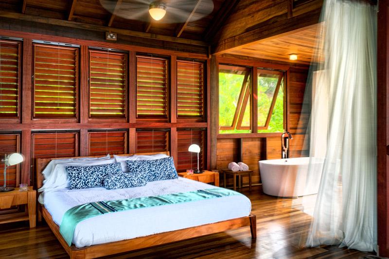 Zabuco Villa bedroom at Secret Bay