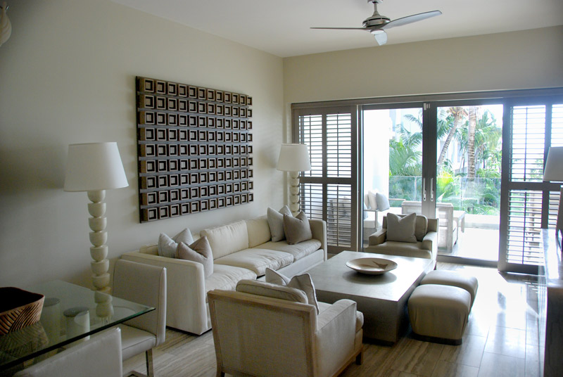 Sitting area of our suite at Viceroy Anguilla