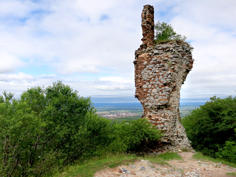 Napoleon destroyed much of Pajštún Castle in 1810, leaving it in picturesque ruins. - Photo by Hideaway Report editor