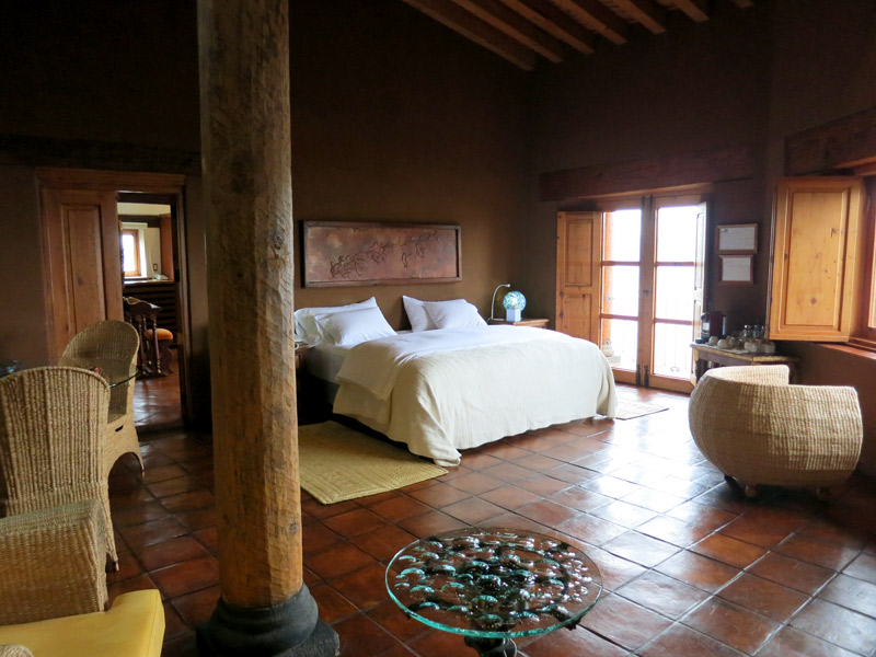 Our suite bedroom at Hacienda Ucazanaztacua
