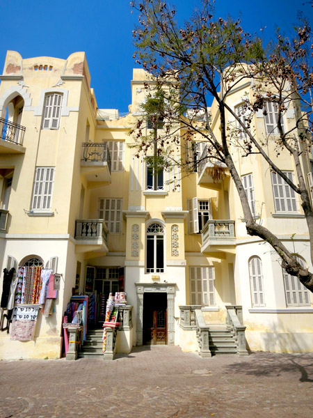 Eclectic-style building in the bohemian Yemenite Quarter