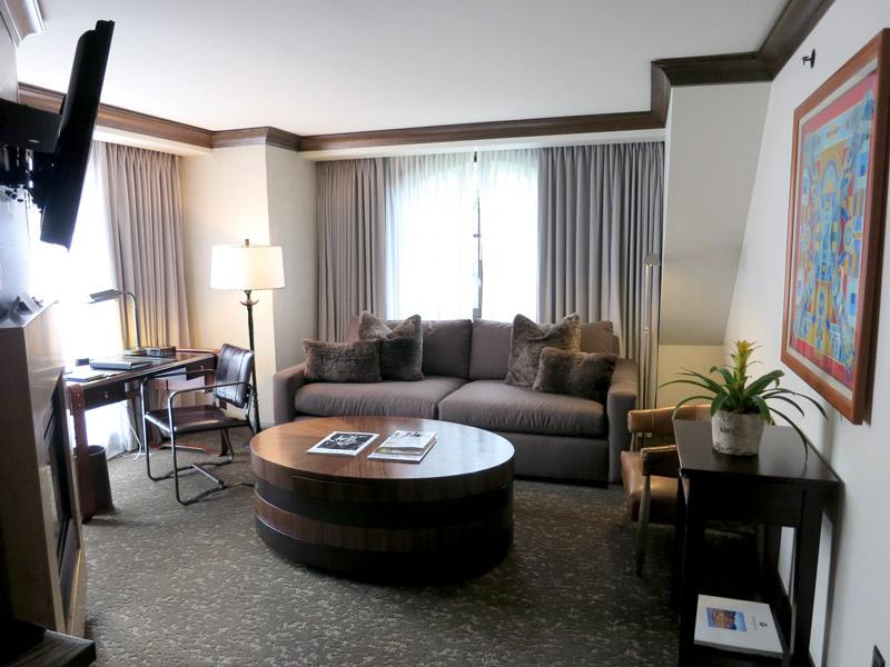 Our living room at The St. Regis Aspen