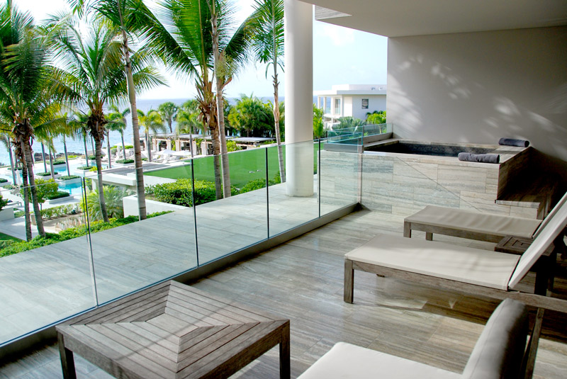 Our terrace and plunge pool at Viceroy Anguilla