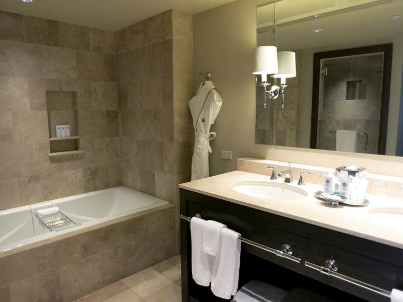 Our bath at The St. Regis Aspen