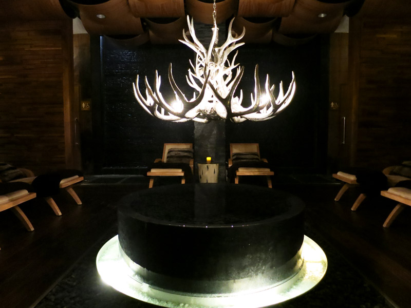 Spa relaxation lounge at Viceroy Snowmass