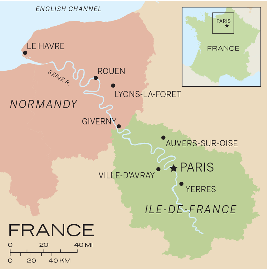 Map Of France Giverny.Travels Through The Ile De France And Normandy