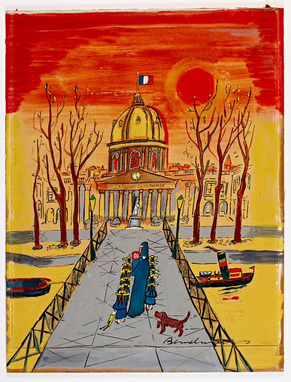 "Cover of ""Madeline's Rescue,"" 1953, featured in the New-York Historical Society exhibition for Madeline's 75th anniversary - © Ludwig Bemelmans, LLC."