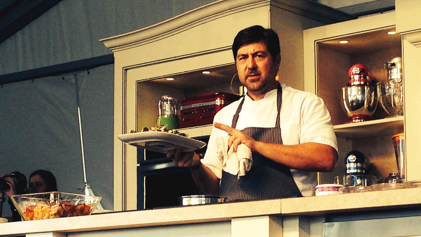 Mike Lata's demonstration at the Austin FOOD & WINE Festival