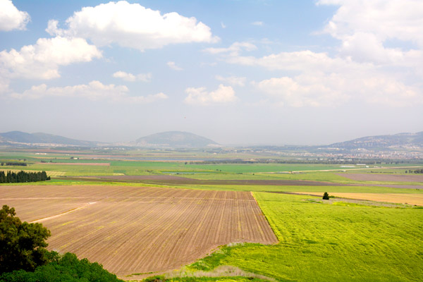 Mount Tabor seen across the Jezreel Valley, the place identified in the Book of Revelation as the battleground of Armageddon - Photo by Hideaway Report editor