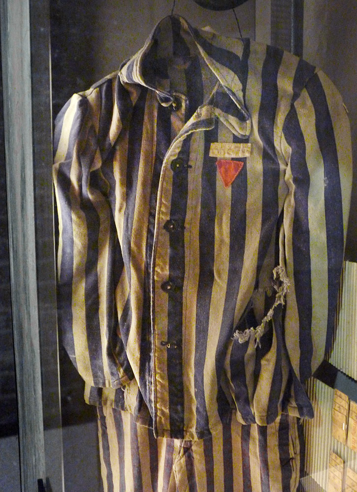A concentration camp uniform displayed at the Verzetsmuseum, also known as the Resistance Museum, in Amsterdam - damian/entwistle/Flickr