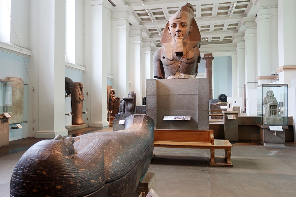 The ancient Egypt galleries at the British Museum in London - Photo by Hideaway Report editor