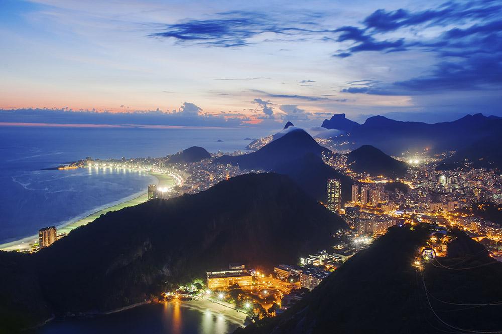 Botafogo and Copacabana beach in Rio de Janeiro