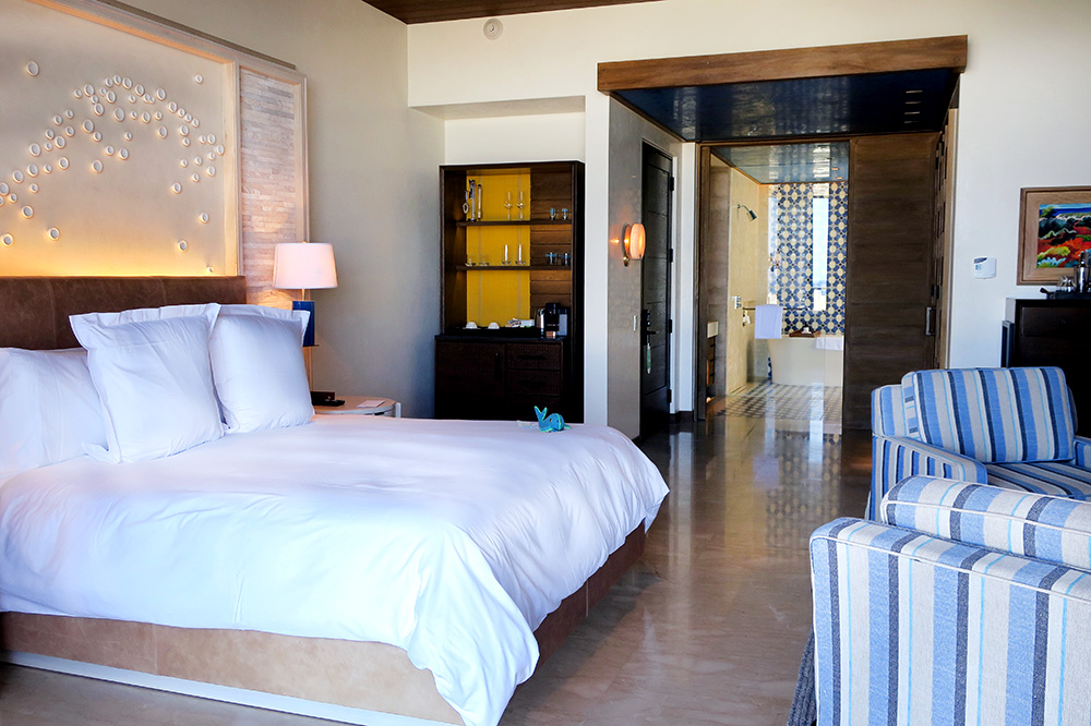 Our Ocean View Room at Chileno Bay Resort in Los Cabos, Mexico  - Photo by Hideaway Report editor