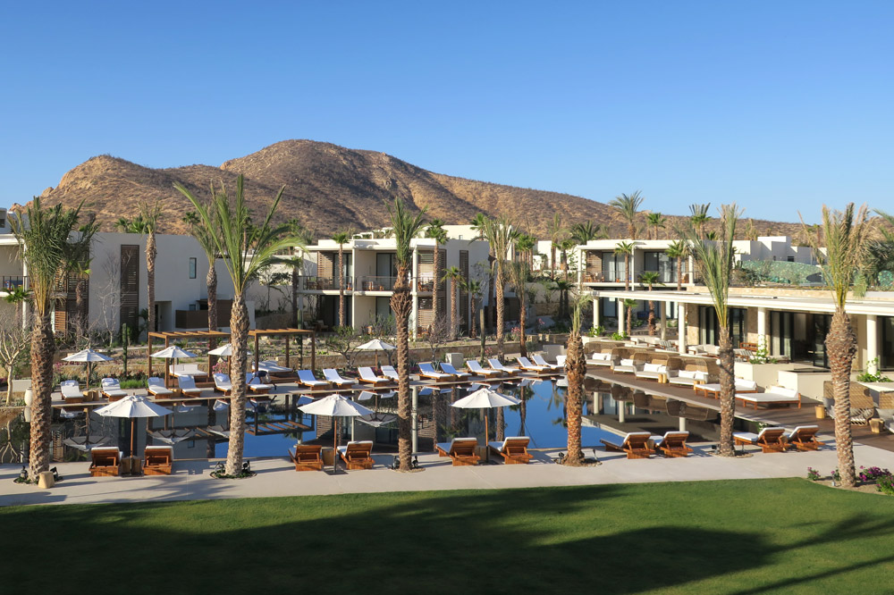 Overview of the pool area at Auberge Chileno Bay