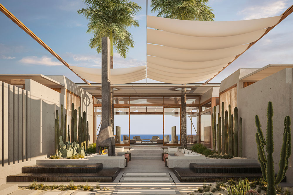 A rendering of a casita at Amanvari on the East Cape of the Baja Peninsula, Mexico