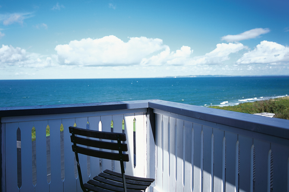 View of the sea from Gilleleje Badehotel in Gilleleje, Denmark