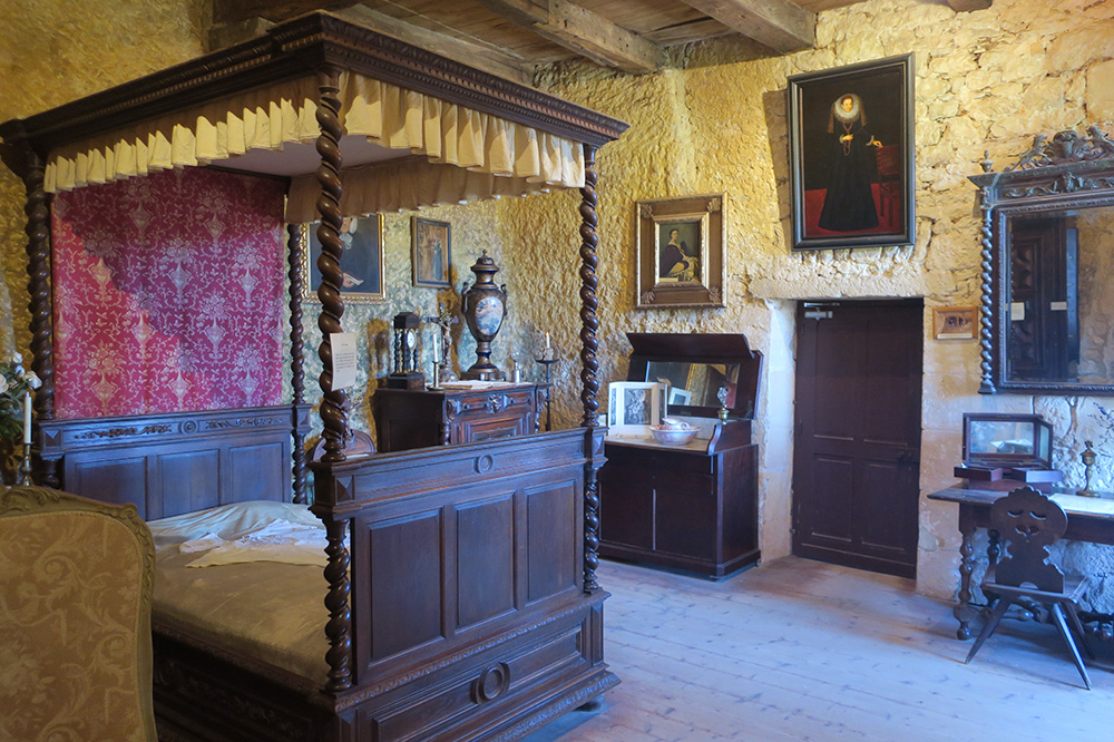The Countess's Room inside of Maison Forte de Reignac in the Dordogne, France - Photo by Hideaway Report editor