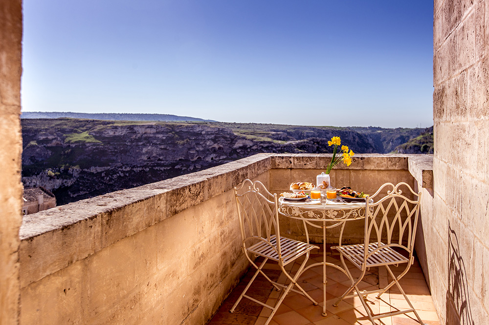 <em>The Awakening</em>, a restaurant at Palazzo Gattini in Matera, Italy
