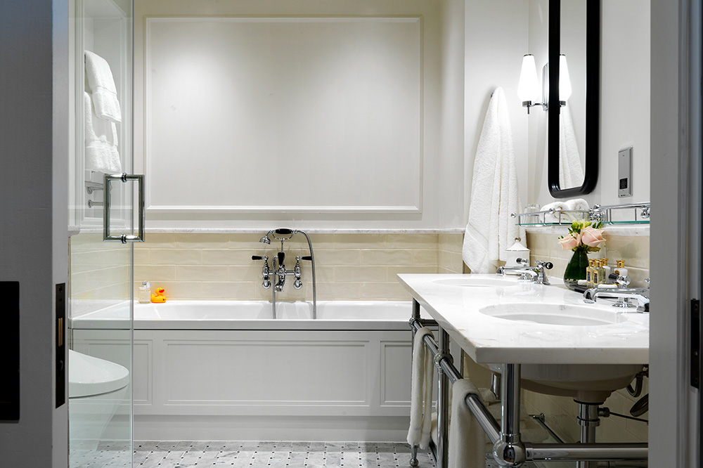 The bath in a Carriage House Room at The Stafford London - The Stafford London