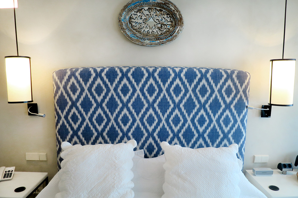 The bed in our Pool Terrace Suite at Corral del Rey