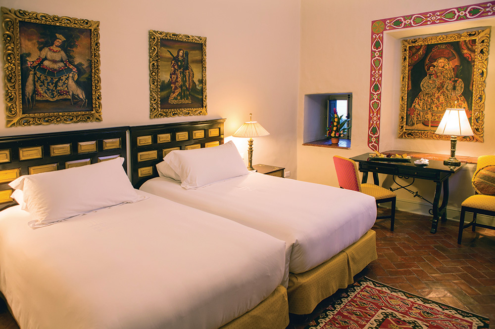 The Deluxe Room with twin beds at Belmond Hotel Monasterio in Cusco, Peru - Matt Hind