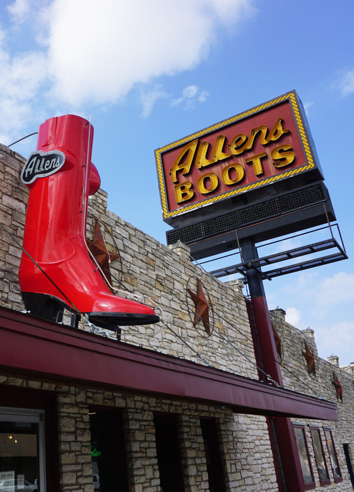 Infamous sign for Allens Boots on South Congress - Photo by Tiffany Stewart
