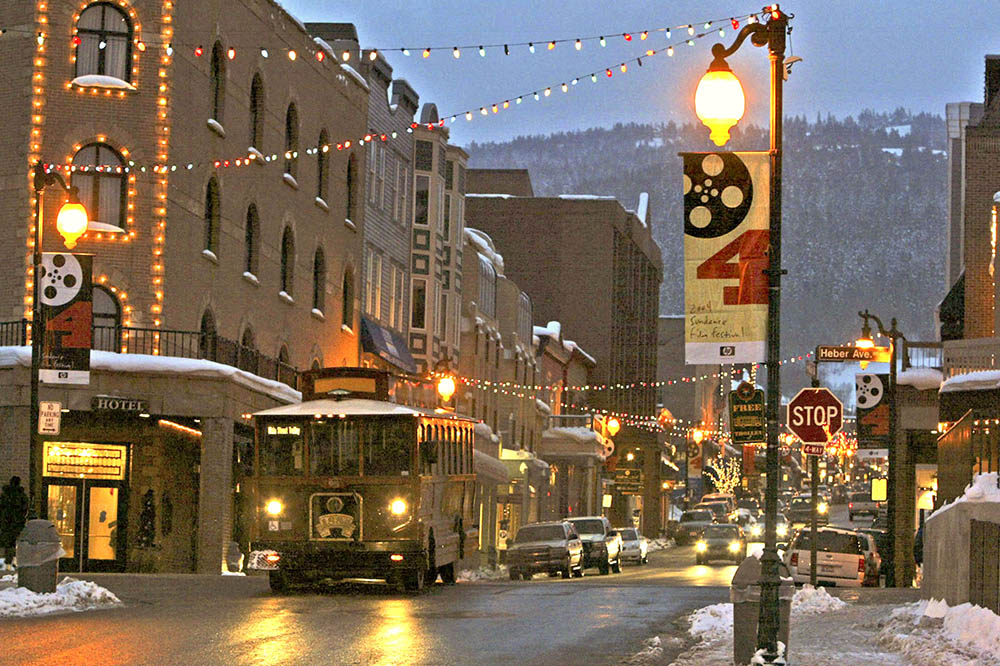 The town of Park City draws winter visitors and A-list celebrities alike with the Sundance Film Festival held each January.