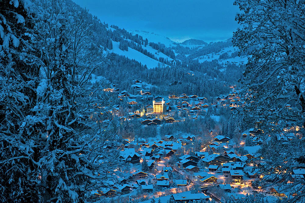 With authentic Swiss architecture and a largely undisturbed landscape, Gstaad offers a quintessential wintry setting for a holiday.