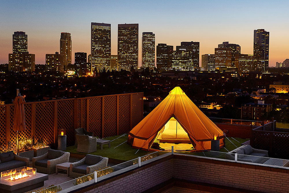 An urban glamping experience at Beverly Wilshire in Beverly Hills, California