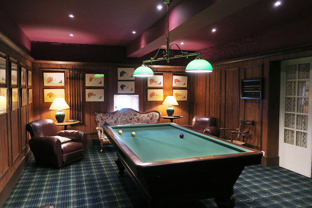 The billiards room