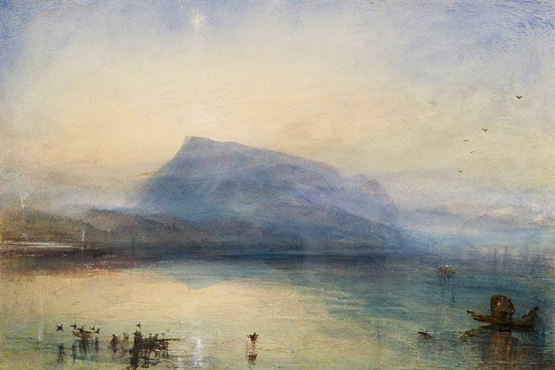 """The Blue Rigi, Sunrise"" by J.M.W. Turner"