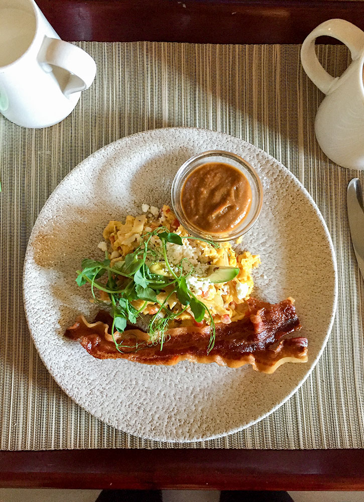 Breakfast dish, Viva Las Migas, from Lake Austin Spa Resort in Austin, Texas - Photo by Hideaway Report editor