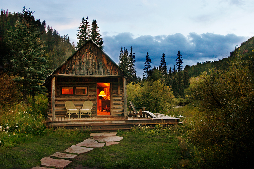 A cabin at Dunton Hot Springs in Dolores, Colorado