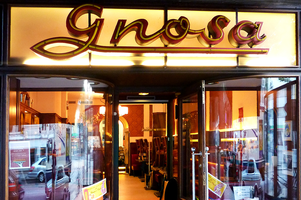 The entrance of <em>Cafe Gnosa</em>