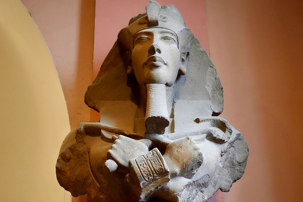 Akhenaten at the Egyptian Museum in Cairo, Egypt - Photo by Hideaway Report editor
