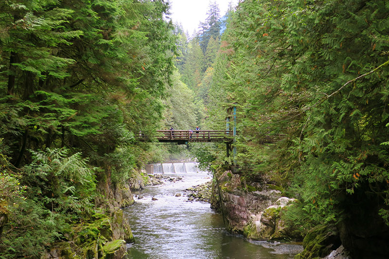 A footbridge across the Capilano River affords memorable views of the gorge. - Photo by Hideaway Report editor