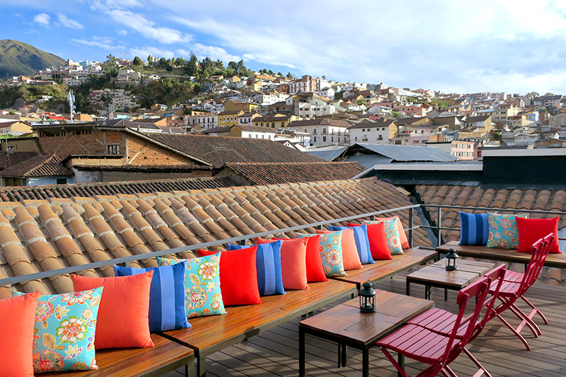 Rooftop deck at Carlota - Photo by Hideaway Report editor