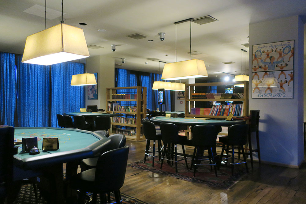 The casino at Rooms Hotel Kazbegi