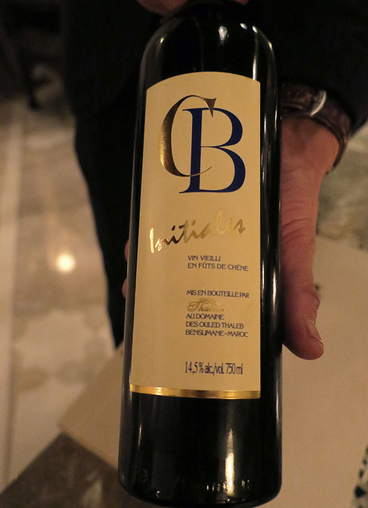 CB Initiales wine at La Grande Table Marocaine at Royal Mansour in Marrakech