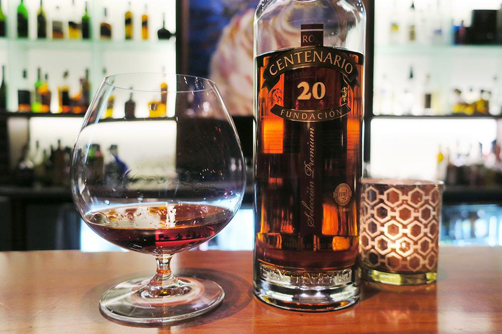 Ron Centenario's 20-year rum from Ambar at Hacienda AltaGracia