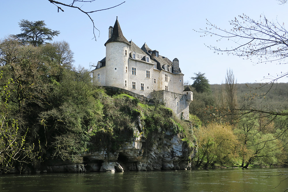 Château de la Treyne, perched above the river in Lacave, France