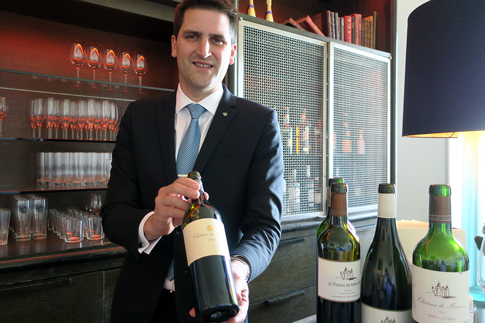 Yann Potet of Château de Mercuès in Mercuès, France