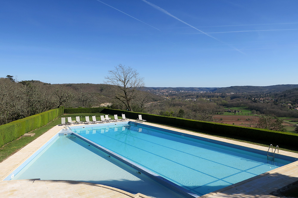 The pool at Château de Mercuès in Mercuès, France.