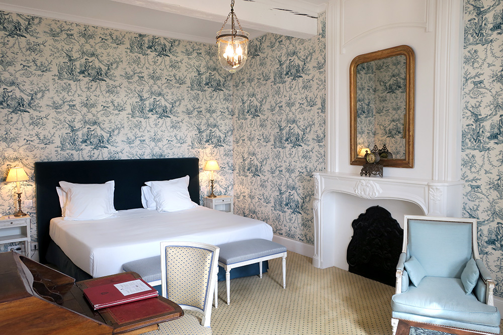 Our Prestige Room at the Château des Vigiers in Monestier, France - Photo by Hideaway Report editor