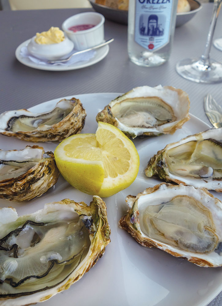 Oysters from Chez Huguette in Bastia, France - Photo by Hideaway Report editor